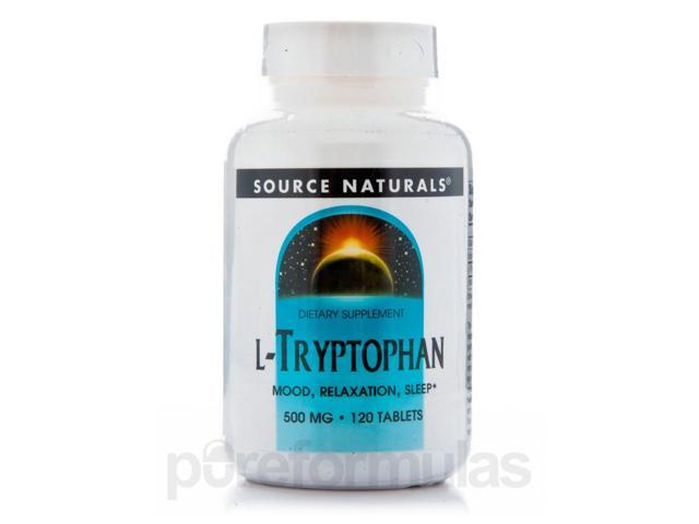 L-Tryptophan 500 mg - 120 Tablets by Source Naturals