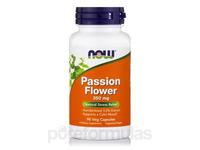 Passion Flower Extract 350 mg - 90 Vegetarian Capsules by NOW