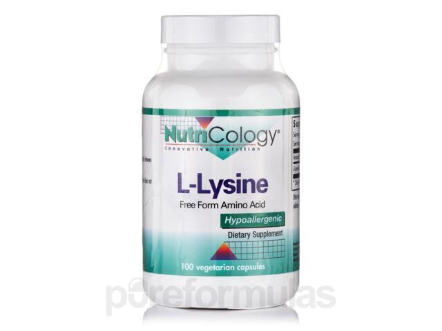 L-Lysine - 100 Vegetarian Capsules by NutriCology