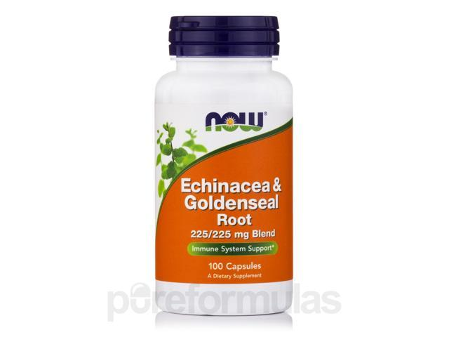 Echinacea & Goldenseal Root - 100 Capsules by NOW