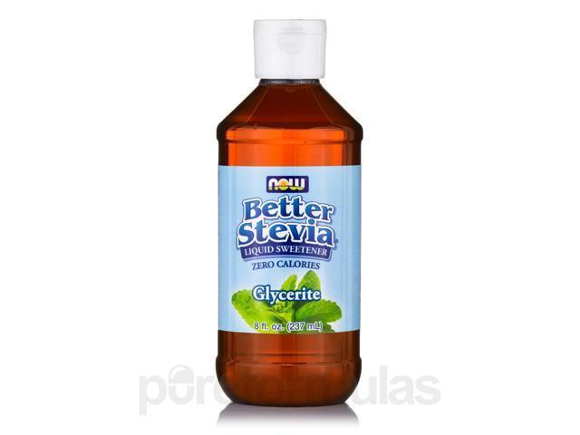 Better Stevia Liquid Sweetener, Glycerite - 8 fl. oz (237 ml) by NOW
