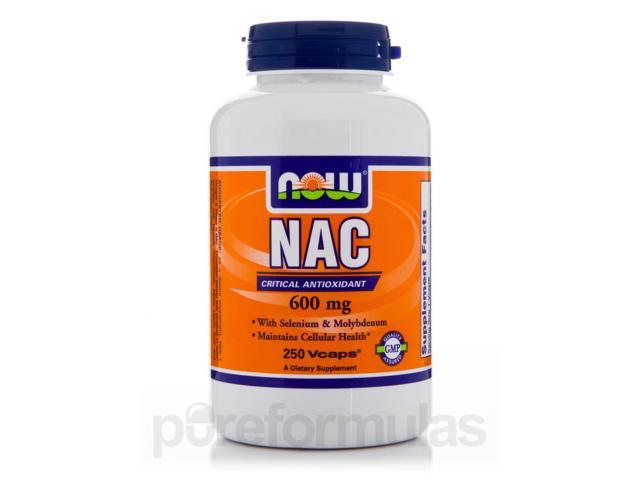 NAC 600 mg - 250 Vegetarian Capsules by NOW