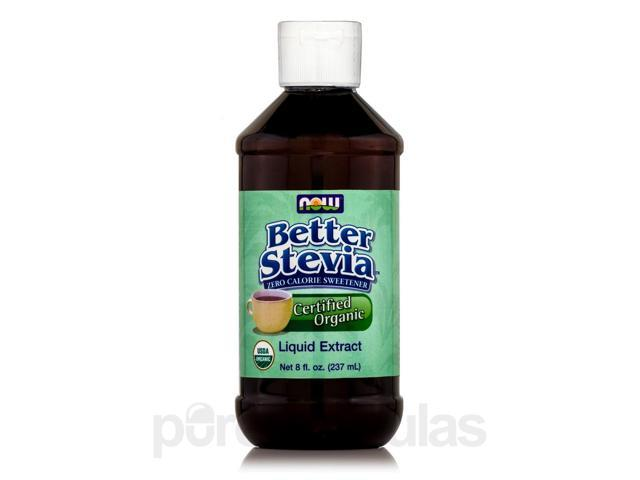 Better Stevia Liquid Extract Sweetener, Organic - 8 fl. oz (237 ml) by NOW