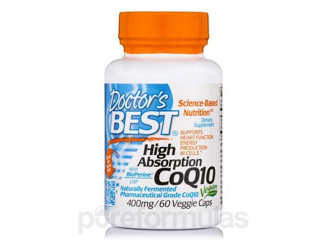 High Absorption CoQ10 with BioPerine 400 mg - 60 Veggie Capsules by Doctor's Be