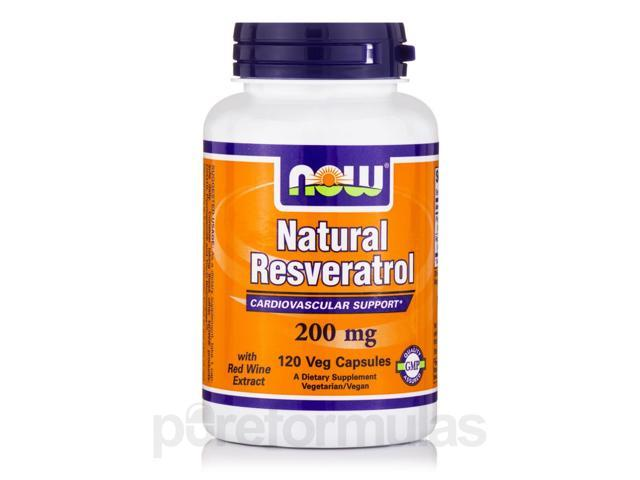 Natural Resveratrol 200 mg - 120 Veg Capsules by NOW