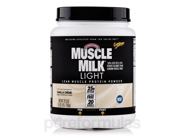 Muscle Milk Light Vanilla Creme - 1.65 lbs (26.5 oz / 750 Grams) by CytoSport