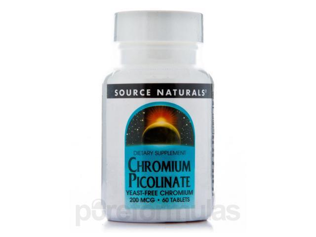 Chromium Picolinate 200 mcg - 60 Tablets by Source Naturals