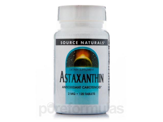 Astaxanthin 2 mg - 120 Tablets by Source Naturals