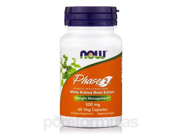 Phase-2 500 mg - 60 Vegetarian Capsules by NOW