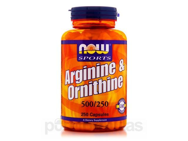 NOW Sports - Arginine & Ornithine 500/250 - 250 Capsules by NOW