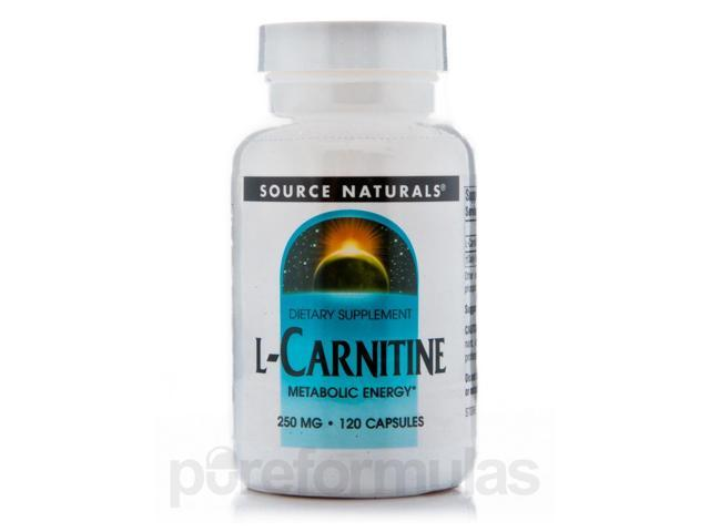 L-Carnitine Fumerate 250 mg - 120 Capsules by Source Naturals