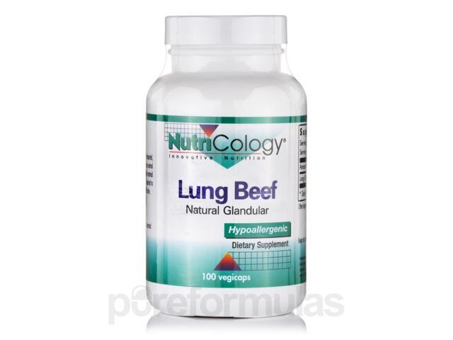 Lung Beef (Natural Glandular) - 100 Vegicaps by NutriCology