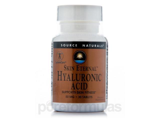 Skin Eternal Hyaluronic Acid - 30 Tablets by Source Naturals