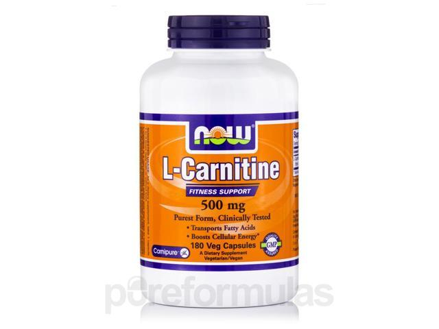 L-Carnitine 500 mg - 180 Veg Capsules by NOW