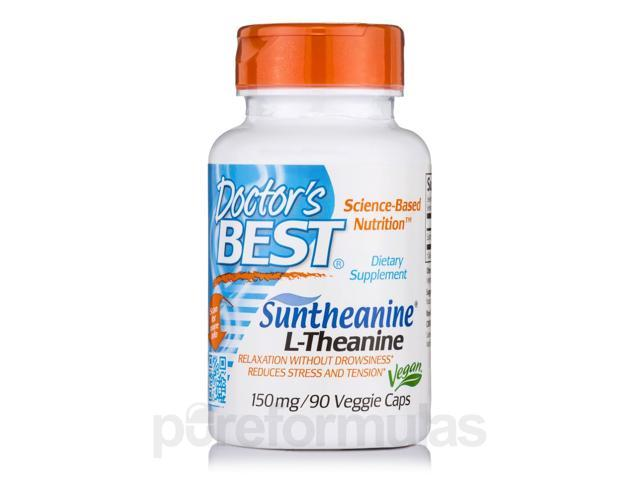 Suntheanine L-Theanine 150 mg - 90 Veggie Capsules by Doctor's Best