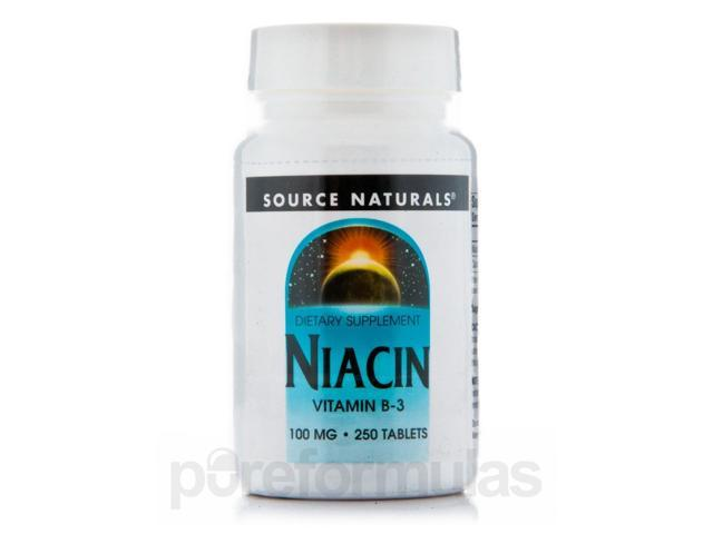 Niacin 100 mg - 250 Tablets by Source Naturals