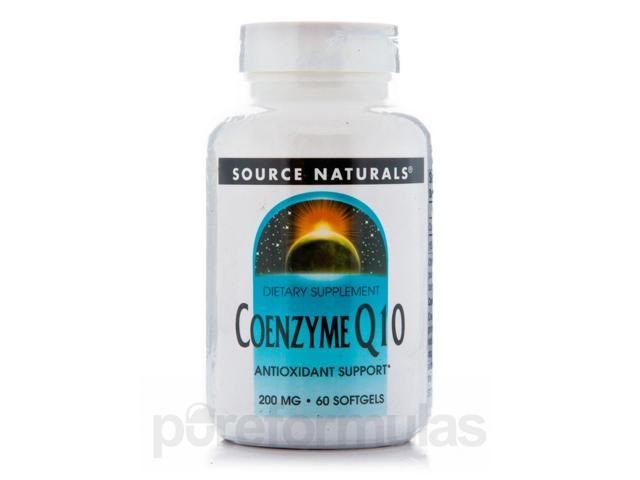 Co-Q10 200 mg - 60 Softgels by Source Naturals