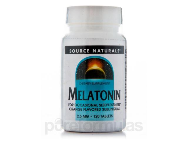 Melatonin 2.5 mg Sublingual Orange - 120 Tablets by Source Naturals