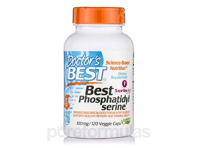 Best Phosphatidyl Serine 100 mg - 120 Veggie Capsules by Doctor's Best