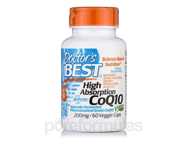High Absorption CoQ10 with BioPerine 200 mg - 60 Veggie Capsules by Doctor's Be