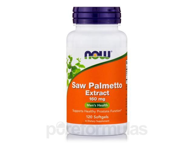 Saw Palmetto Extract 160 mg - 120 Softgels by NOW
