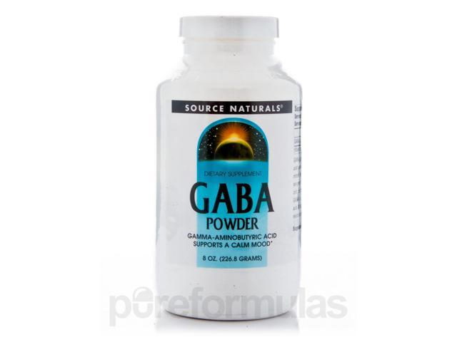 Gaba Powder - 8 oz (226.8 Grams) by Source Naturals