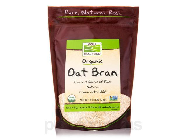 NOW Real Food - Organic Oat Bran - 14 oz (397 Grams) by NOW