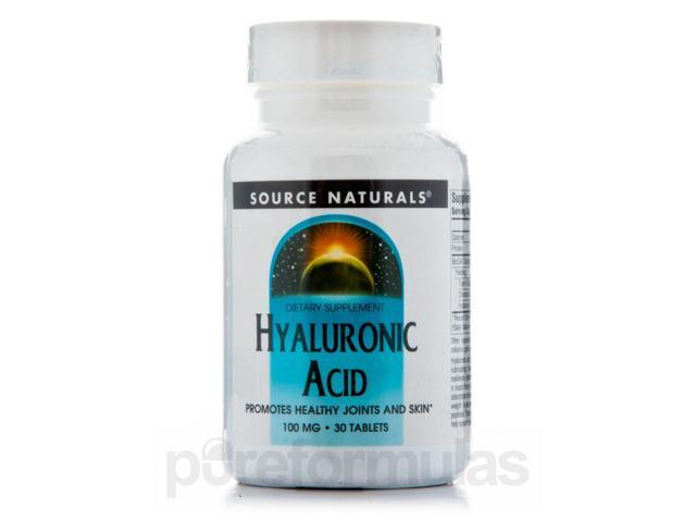 Hyaluronic Acid 100 mg - 30 Tablets by Source Naturals