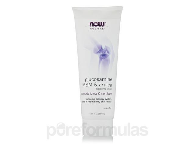 NOW Solutions - Glucosamine, MSM & Arnica Liposome Lotion - 8 fl. oz (237 ml) b