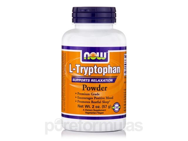 L-Tryptophan Powder - 2 oz (57 Grams) by NOW