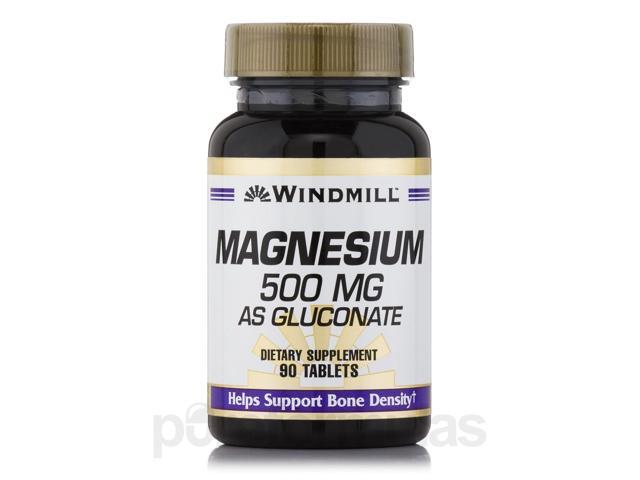 Magnesium Gluconate 500 mg - 90 Tablets by Windmill