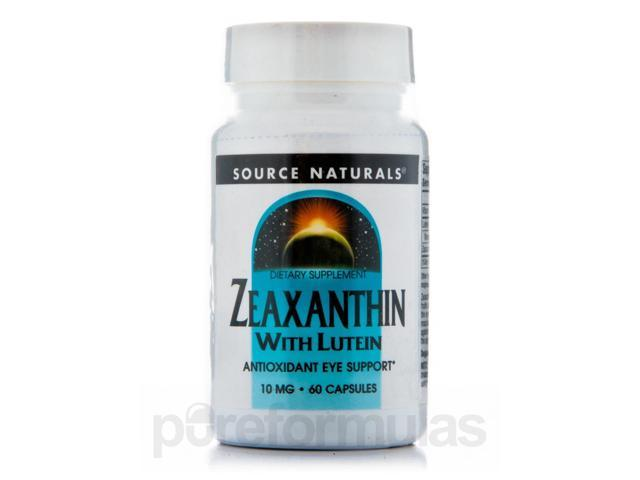 Zeaxanthin with Lutein 10 mg - 60 Capsules by Source Naturals