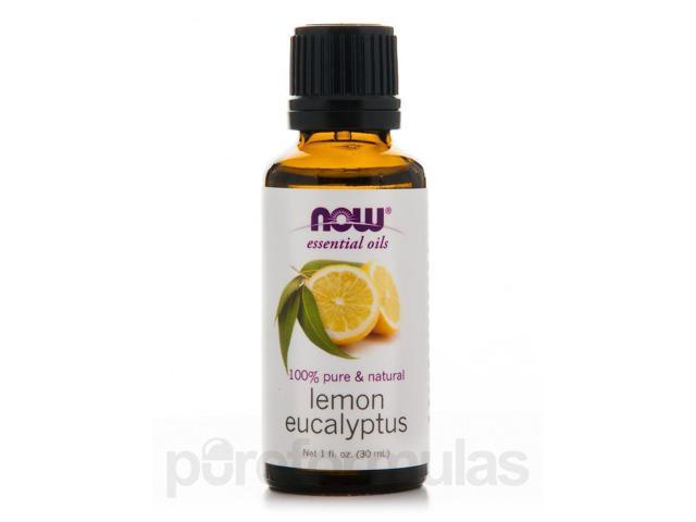 NOW Essential Oils - Lemon Eucalyptus Oil (100% Pure) - 1 fl. oz (30 ml) by NOW
