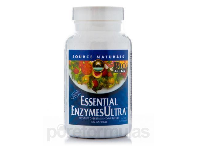 Essential Enzyme Ultra - 120 Vegetarian Capsules by Source Naturals