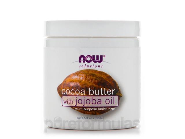 NOW Solutions - Cocoa Butter with Jojoba Oil - 6.5 fl. oz (192 ml) by NOW