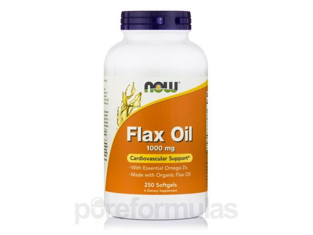 Flax Oil 1000 mg - 250 Softgels by NOW