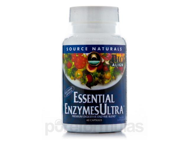 Essential Enzyme Ultra - 60 Vegetarian Capsules by Source Naturals