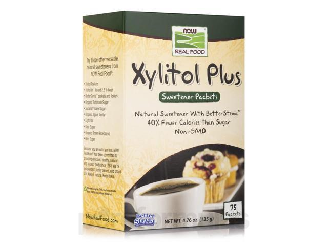 NOW Real Food - Xylitol Plus - Box of 75 Packets by NOW