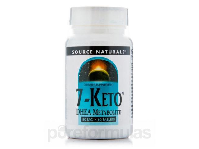 7-Keto DHEA 50 mg - 60 Tablets by Source Naturals