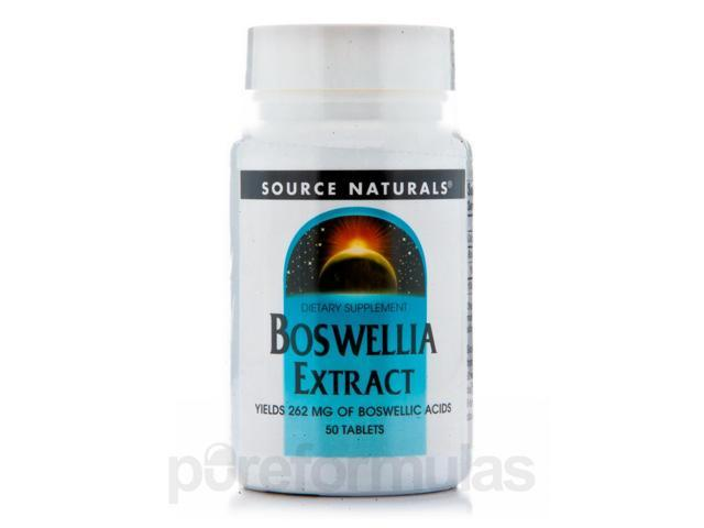 Boswellia Extract - 50 Tablets by Source Naturals