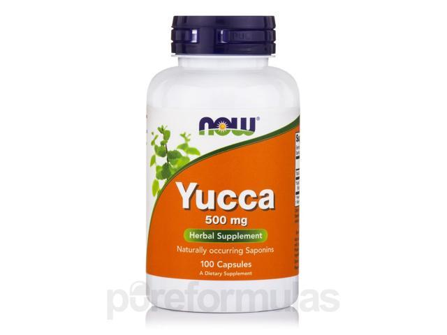 Yucca 500 mg - 100 Capsules by NOW