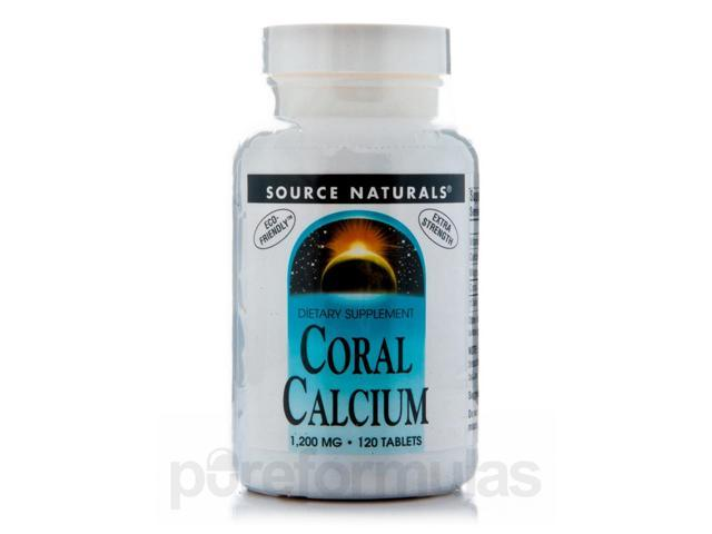 Coral Calcium 1200 mg - 120 Tablets by Source Naturals