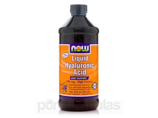 Liquid Hyaluronic Acid, Berry Flavor - 16 fl. oz (473 ml) by NOW