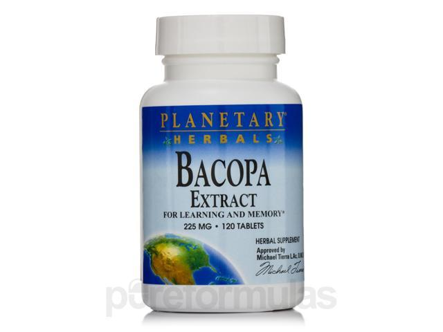 Bacopa Extract 225 mg - 120 Tablets by Planetary Herbals