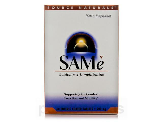 SAMe 200 mg - 60 Tablets by Source Naturals