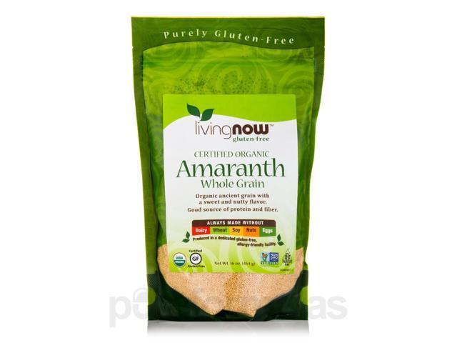 LivingNow Amaranth Grain (Organic) - 16 oz (454 Grams) by NOW
