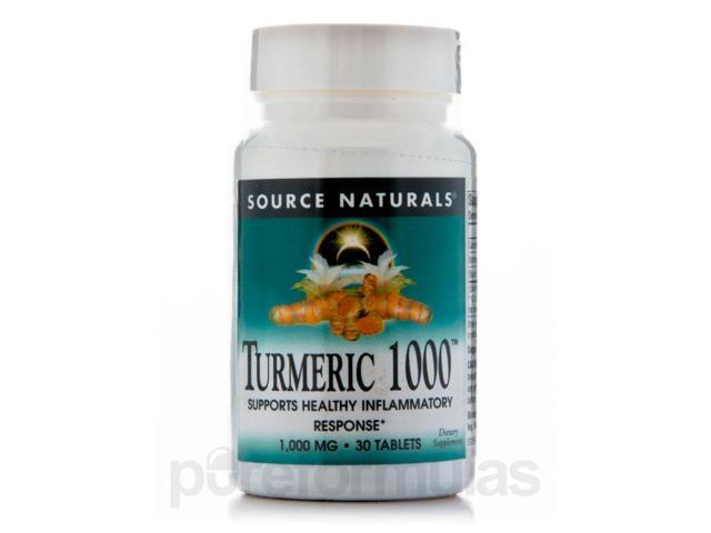 Turmeric 1000 mg - 30 Tablets by Source Naturals