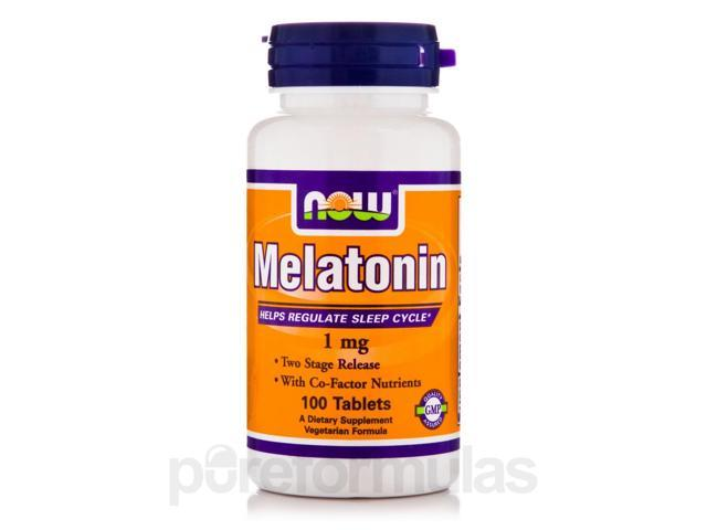 Melatonin 1 mg - 100 Tablets by NOW