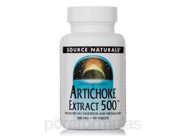 Artichoke Extract 500 mg - 90 Tablets by Source Naturals