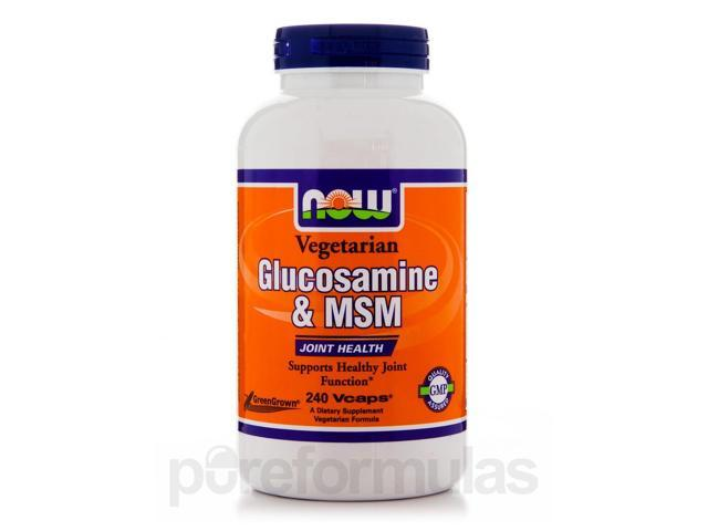 Vegetarian Glucosamine & MSM - 240 Veg Capsules by NOW